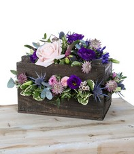wooden crate flower arrangement www.thegravesendflorist.co.uk