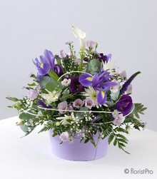white, lilac, purple, posy, arrangement, www.thegravesendflorist.co.uk