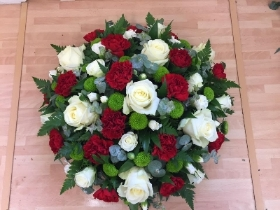 Red & White Rose Posy