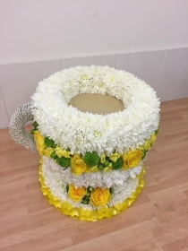 Teacup, tea, coffee, cup, funeral, tribute, wreath, flowers, gravesend, florist, delivery