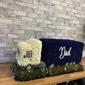 Lorry, truck, 3D, funeral tribute, funeral flowers, florist, gravesend, delivery