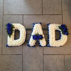 Dad, daddy, father, funeral flowers, funeral tribute, florist, gravesend