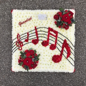 Music, musical, note, funeral, flowers, tribute, Gravesend, Florist, kent