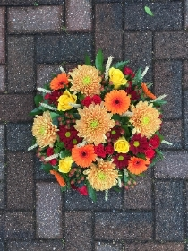 Autumn, posy, oasis, funeral, flowers, tribute, Gravesend, Florist, kent