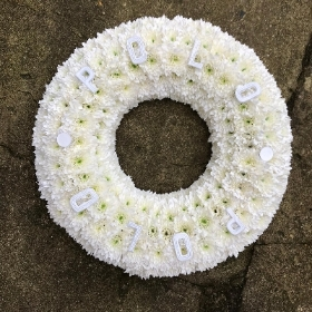 Polo, mint, funeral, tribute, flowers, wreath, Gravesend, florist, delivery