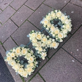 Rose, letters, funeral, tribute, wreath, flowers, Gravesend, florist, delivery