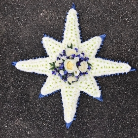 Northern, north, 8 point, star, funeral, flowers, tribute, Gravesend, Florist, delivery