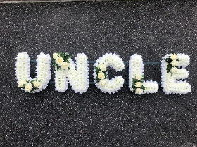 Uncle, letter, funeral, tribute, wreath, flowers, florist, delivery, Gravesend