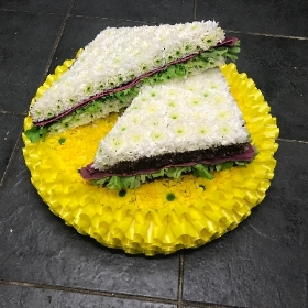Sandwich, bacon, lettuce, cheese, ham, blt, food, funeral, tribute, flowers, Gravesend, Florist, delivery