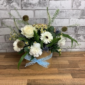 Hatbox, Flower, arrangement, gift, birthday, thank you, Gravesend, Florist, delivery