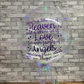 Light up, battery, bubble, balloon, bubblegum, personalised, gift, alternative, Gravesend, florist, delivery, delivered, alternative, Northfleet, kent