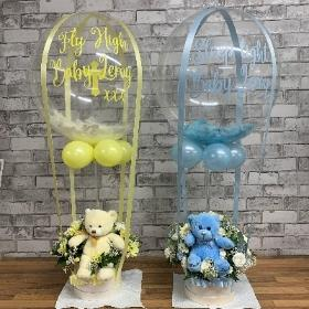 New, Baby, shower, hot air, balloon, gift, funeral, flowers, florist, gravesend, northfleet, kent, wreath, tribute