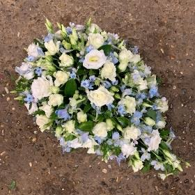 Baby, coffin, spray, small, tiny, coffin,spray, funeral, tribute, flowers, florist, gravesend, northfleet, kent