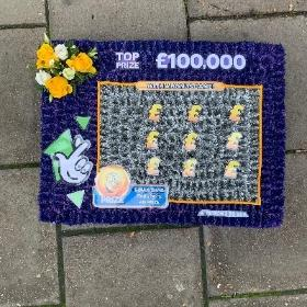 Lotto, lottery, scratch, card, funeral, flowers, tribute, wreath, gravesend, northfleet, kent, Florist, delivery