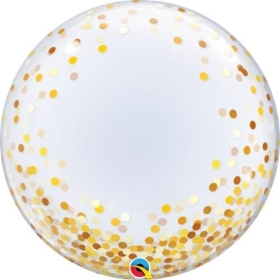 Gold dots bubble balloon