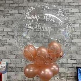 Filigree bubble balloon