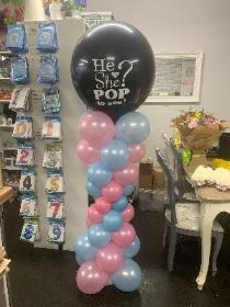 Gender, reveal, balloon, pink, blue, baby, florist, gravesend, northfleet, kent