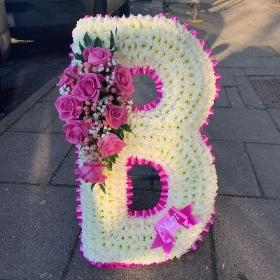 Large, big, huge, xl, letter, letters, name, word, funeral, flowers, tribute, wreath, gypsy, traveller, gravesend, northfleet, kent, florist,