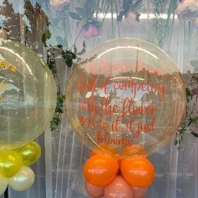 Orange bubble balloon
