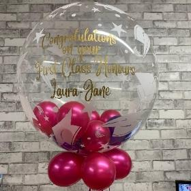 Graduation, congratulations, bubble, bubblegum, balloon, gift, delivery, gravesend, northfleet, kent, london, florist