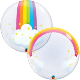 Rainbow bubble balloon