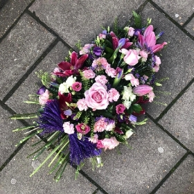 Pink and purple sheaf style spray