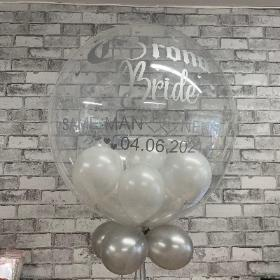 Corona, bride, wedding, bubble, balloon, postponed, new date, gift, gravesend, northfleet, kent, london, delivery