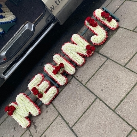 Mehnji, letters, Sikh, Hindi, Funeral, sympathy, wreath, tribute, flowers, florist, gravesend, Northfleet, Kent, london
