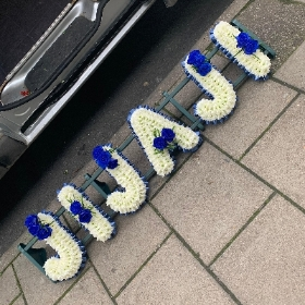 JIJAJI, letters, Indian, Sikh, Hindi, Funeral, sympathy, wreath, tribute, flowers, florist, gravesend, Northfleet, Kent, london