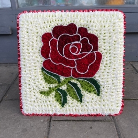 Red, England, rugby, rose, Funeral, sympathy, wreath, tribute, flowers, florist, gravesend, Northfleet, Kent, London